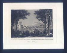 Bingen - Ruine Klopp - Aquatinta - Bodmer/Lasinsky 1834