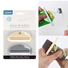 2 Pcs Plastic Tube Squeezer Toothpaste Dispenser Holder Rolling Bathroom Extract