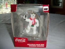 Coca-Cola  Bear Dancing With Music Jukebox   Christmas Ornament     NIB