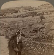 Palestine. Tombs of the Prophets in King's Dale. Jerusalem. Underwood Stereoview