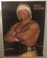 GREAT SHAPE WWF 1985 Hulk Hogan Poster 20x28 Original Vintage WWE WCW nWo AWA