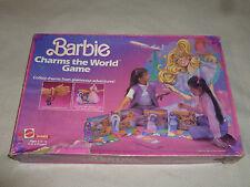 VINTAGE BOXED BARBIE CHARMS THE WORLD GAME MATTEL 1985 BRACELETS NR COMPLETE >>