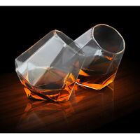Authentic Whiskey Diamond Glasses Set of 2, Whisky Scotch Barware Glassware Gift