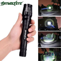 LED 2x 18650 Power LED Taschenlampe CREE Flash-light Fokus Zoom T6 Hand-lampe