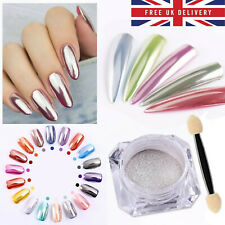 BORN PRETTY Mirror Nail Glitter Powder Silver Nail Art Chrome Pigment Dust 1g
