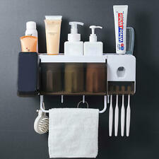 Toothbrush Holder Wall Mount Sucker Bathroom Suction Cup Set Rack Stick Firmly
