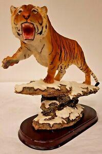 The Leonardo Collection Tiger on Snow Covered Rocks