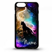 Mountain lion puma cougar panther art graphic personalised name phone case cover