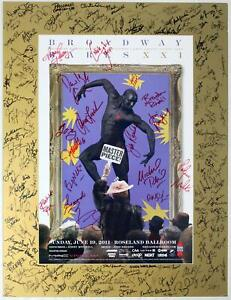 BROADWAY BARES 2011 Masterpiece Cast Roger Rees, Jim Parsons + Signed Poster