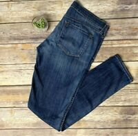 Vince Slim Skinny Leg Medium Wash Denim Jeans Lightly Distressed Womens Size 29