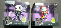 Disney Nightmare Before Christmas Jack Skellington & Sally Metalfigs Pair Glow