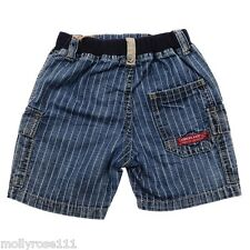 Boy Summer ~ TIMBERLAND ~ Pull On Denim Striped Shorts 100% Authentic ~ 6 Months
