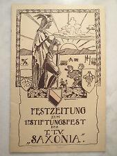 Hainichen - TTV Saxonia - 1920 - 17. Stiftungsfest - Bierzeitung / Studentika