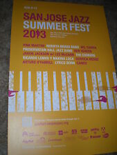 SAN JOSE summer jazz fest 2013 POSTER pink martini wil campa ben vereen CONCERT