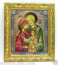 Icon Holy Family Икона святое семейство освящена в рамке 20,5x17,5x1,7 cm