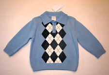 NWT Gymboree Later Gator Blue Sweater Boy's Size 6-12M