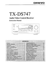 Onkyo Integra TX-DS747 Receiver Owners Instruction Manual