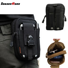600D Outdoor Tactical Airsoft Molle Waist Bag Utility Pouch Phone Case Black