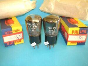 2x valvole Philips RRAF = RE084 nuove e provate. Tube lampe Röhre.  Radio NOS