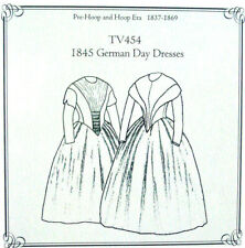 Truly Victorian TV454 Sewing pattern for German Day dress circa 1840-1853 uncut