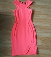 Ladies River Island coral body con dress size 8