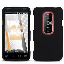 Hard Rubberized Case for HTC Evo 3D - Black
