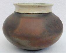 2001 Signed Thomas Porter Pottery by Thomas Horsehair Raku Art Pottery Vase 4095