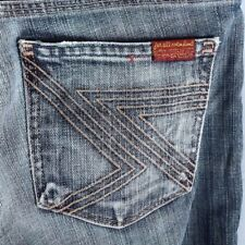 7 Seven for All Mankind FLYNT Women's Jeans Flare 26 X 31.5 32 Gray Grey USA