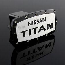 "NISSAN TITAN Hitch Cover Plug Cap 2"" Trailer Receiver W/ Black Frame Allen Bolts"