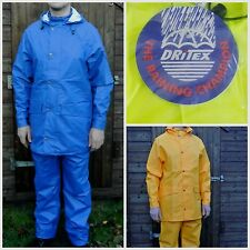 FAITHFUL DRITEX PU COATED WATERPROOF JACKET TROUSER RAIN WORK RUBBER FLEX FEEL