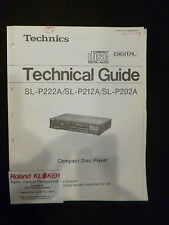 Original Technical Guide Compact Disc Player SL-P222A  SL P212A  SL-P202A