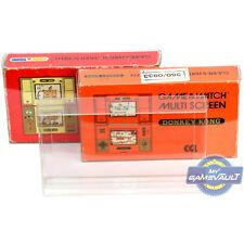 3 x Game & Watch Multi Screen Box Protectors for Nintendo 0.5mm Plastic Case