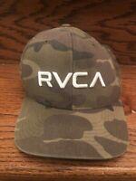 RVCA Camo Pattern Snapback Baseball Cap Hat Men's One Size RVCA Mid Fit