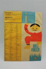 SHELL  ANTI FREEZE Pappschild mit Drehskala - D um 1960 - selten !