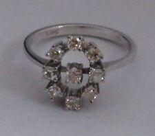Weißgold  Blüte Ring 0.66 Carat Brillant Diamant Zertifikat 585 Gold