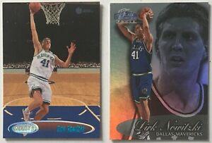 1998-99 Dirk Nowitzki Topps Stadium Club #202 / Flair Showcase #16 Rookie Cards