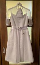 Marie Amelie Holy Communion, Bridesmaid White Dress Mesh Sleeves + Bag Age 8