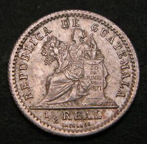 GUATEMALA 1/2 Real (Medio) 1897 - Silver - VF - 402