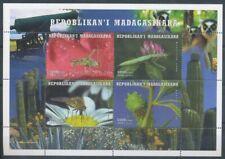 [36019] SUP||**/Mnh || - 1999 - Insectes, fleurs et cactus - en bloc feuillet