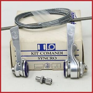 NOS CAMPAGNOLO C-RECORD SYNCRO SHIFTERS 6s SPEED VINTAGE DOWNTUBE BRAZE-ON BIKE