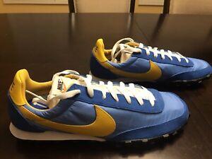 New Nike Waffle Racer Battle Blue Sneaker Shoes Size US 12.5