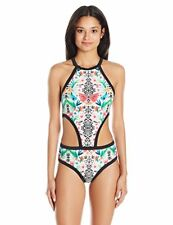 04c0767eb0 Body Glove Reflection Millie Cutout One Piece Monokini Swimsuit Multi Size S