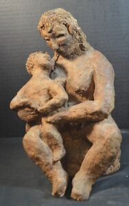 Mid Century Art Pottery Sculpture of Mother and Child