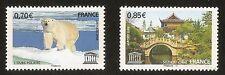 FRANCE 2009 - Timbres de Service UNESCO n° 144 et 145 NEUFS** LUXE MNH