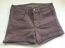 American Eagle Women's AEO Twill X Skindigo Midi Shorts- Lavender- Size 4