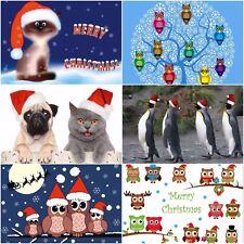 """""""WITZIGE WEIHNACHTEN"""": Lustiges Weihnachtskarten-Set (24 Karten) mit Tieren"""