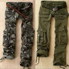 Women Military Army Green Cargo Pocket Casual Camo Trousers Outdoor Street Pants