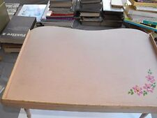 Vintage Pink Flower Wood Bed TV Lap Bed Tray Table Golden Rule Line 4 Level