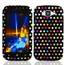 For Samsung Focus 2 i667 Rubberized HARD Protector Case Snap Cover Raindow Dots
