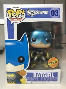 Funko Pop! DC Universe BATGIRL METALLIC CHASE #03 RARE DAMAGED